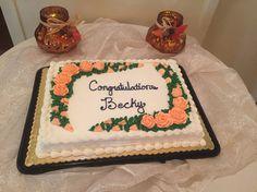 Cake for bridal shower courtesy of Leo's Bakery