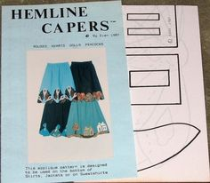 Hemline Capers by Dian Applique Motifs for Skirts Jackets Sweatshirts, Houses Hearts Dolls Peacocks Vintage 1980s Uncut Craft Sewing Pattern by RosesPatternsEtc on Etsy