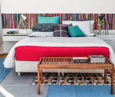 blog de decoração - Arquitrecos: Tecidos e tapetes nas paredes: Cabeceiras a jato!