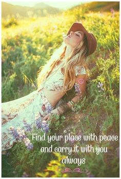 Always be in a Place of Peace within, carry it with you always and know that within this Peaceful Place inside your Heart, is where you will always be in a Blissful State of Unconditional Love for all in each moment. Sacred Feminine, Gypsy Soul, Spiritual Inspiration, Good Thoughts, Inner Peace, Free Spirit, Buddhism, Law Of Attraction, Peace And Love