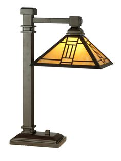 Dale Tiffany TT100016 Noir Mission Table Lamp