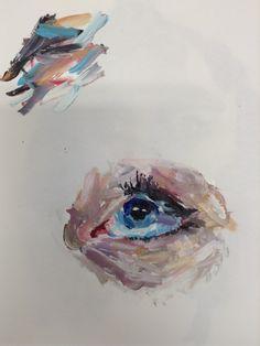 Acryllic eye sketch