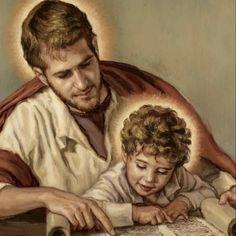 St Joseph Prayer, St Joseph Catholic, Catholic Art, Catholic Saints, Saint Joseph, St Joseph Pictures, Baby Jesus Pictures, Jesus Mother, Christian Paintings
