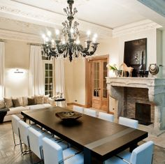 Dining room in a private house. Designed by Galerie 46 professionals.
