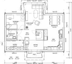 Villa, Om, Floor Plans, How To Plan, Build House, Fork, Villas, Floor Plan Drawing, House Floor Plans