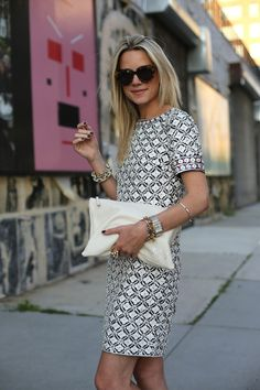 Shine Shift ( Graphic Dresses & Leather Clutches )
