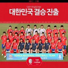 AFC아시안컵 자랑스러운 대한민국 대표팀이 무실점 무패로 결승전에 진출했습니다. 오는 31일 6시 결승전 정말 기대기 되는군요 꼭 우승하길 기원합시다 대~한~민~국 !!!