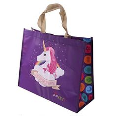 Kawaii, Believe, Ted, Reusable Tote Bags, Unicorns, Carry Bag, Unicorn, Pug Dogs, Weaving