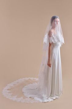 Wedding Veils by Anomalie. A veil isn't just an accessory; it's an extension of a bride's wedding day look and Anomalie wedding veils take it to a new, personal level. Headpiece Wedding, Wedding Veils, Wedding Dresses, Wedding Blog, Destination Wedding, Wedding Day, Metal Comb, Lace Veils, Chantilly Lace