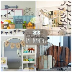 22 Fantastic Fall Mantels to inspire you!! -- Tatertots and Jello #DIY #Fall