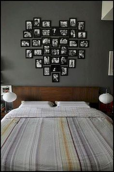 Great idea for newlyweds bedroom on a budget! Ikea frames sprayed every color you . Great idea for newlyweds bedroom on a budget! Ikea frames sprayed every color you please and candid snapshots! , Great idea for newlyweds bedroom on a. Newlywed Bedroom, Ideas Para Organizar, Ikea Frames, Home And Deco, My New Room, Home Projects, Craft Projects, Sweet Home, New Homes