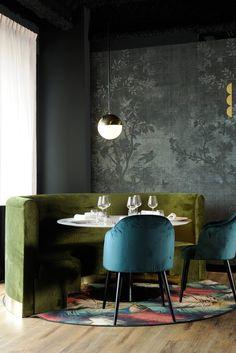 La Forêt Noire is just a stunning luxury restaurant design the French interior design studio, Claude Cartier.
