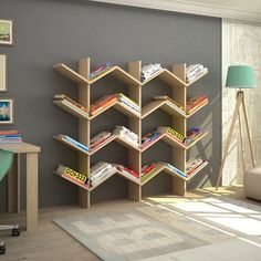 Modern shelving ideas with which you will be the best - Pa . Des idées d& modernes avec lesquelles vous serez le meilleur – Pa… Modern shelving ideas with which you will be the best – Page 9 of 11 – DIY Idees Creatives Cool Bookshelves, Bookshelf Design, Bookshelf Ideas, Tree Bookshelf, Tree Book Shelves, Shelves For Books, Plywood Bookcase, Baby Bookshelf, Bookshelf Decorating