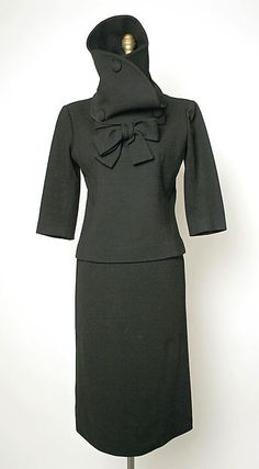 * Ensemble  wool late 1950s  Cristobal Balenciaga