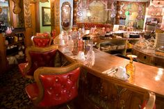 Sweet shot of the Copper Cafe horseshoe bar by Charlotte Staniland #madonnainn #sanluisobispo #california #centralcoast #fun #vintage #iconic #usa