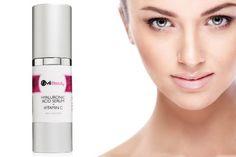 Best Hyaluronic Acid + Vitamin C Anti-aging Face Serum With Bonus Cosmetic Bag. Vitamin C & E, MSM, Jojoba Oil, Green Tea & Aloe