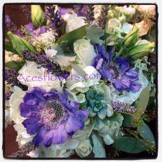 Lavender and succulent brides maid bouquet