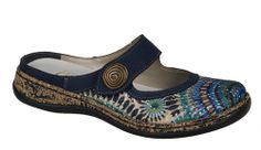 Rieker 46385 Ladies Touch Fastening Mule Clog - Robin Elt Shoes  http://www.robineltshoes.co.uk/store/search/brand/Rieker-Ladies/ #Spring #Summer #SS14 #Sandals #2014