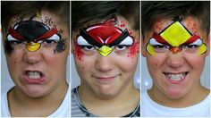 Learn this easy RED angry bird face painting design with me. Angry birds face paint and makeup that both boys and girls will love. Enjoy this easy to follow ...