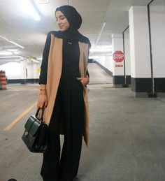 Tan vest hijab outfit-Mixing and matching beautiful winter hijab – Just Trendy Girls