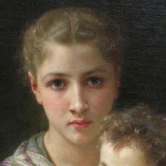 William-Adolphe Bouguereau - Le due sorelle William Adolphe Bouguereau, Renoir, Traditional Paintings, Contemporary Paintings, Portrait Inspiration, Painting Inspiration, Surealism Art, Beaux Arts Paris, Face Proportions