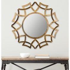 Safavieh Inca Copper Bronze 35-inch Sunburst Mirror - Free Shipping Today - Overstock.com - 15281466