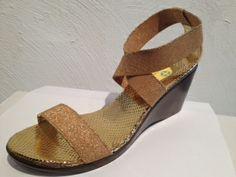 Harbor wedge gold - Charleston/Savannah Shoe co.