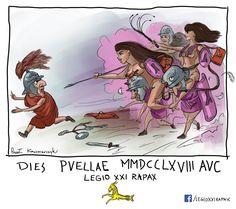 rys. Paweł Kaczmarczyk. Legio XXI Rapax - historical reenactment of Roman legion