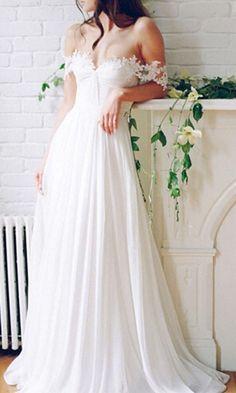 wedding dresses,wedding dress,Sexy Off The Shoulder Wedding Dress,Long wedding dress,A-line Chiffon Lace Wedding Dresses,wedding gown,bridal dress