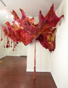 Crochet installation by Amy Long.  I dream of creating installation pieces.  I love this!