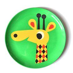 Giraffe Kinderteller aus Melamin von OMM Design bei itkids online shoppen. Hier klicken für die wundervollen Motivteller aus Schweden.