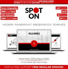 Best Powerpoint Presentation Templates Images  Powerpoint  Buy Spot On  Powerpoint Presentation Template By Visonic On Graphicriver  Spot On Is A Modern Multipurpose Presentation Template Ideal For Creative