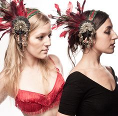 Doable DIY head piece for a Halloween flapper costume, mysticalminiatures on Etsy