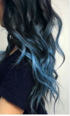 Blue dip dye hair