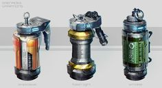 ArtStation - Grenades concept, Juan Novelletto                                                                                                                                                      More