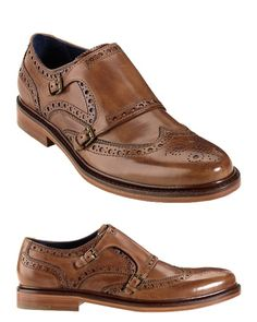 Cole Haan Brogue Medallion Double Monkstrap