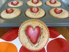 Strawberry Heart Muffin2
