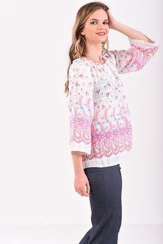 Μπλούζα boho με κέντημα Boho, Tunic Tops, T Shirt, Women, Fashion, Supreme T Shirt, Moda, Tee Shirt, Fashion Styles