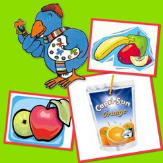 Capri Sun, Frosted Flakes, Fruit, School