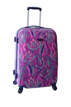 """Paisley 28"""" Hard Side Spinner Upright - Magenta by Jessica Simpson Luggage on @HauteLook"""
