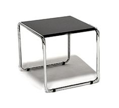 Modern Nesting Side Table / End Table with Steel Frame Chrome Tubular Steel Frame Material: