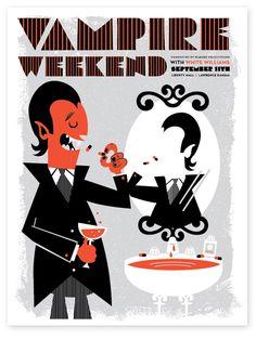 Poster design from Tad Carpenter found on design blog Grain Edit