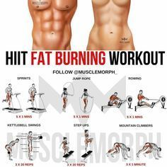 """The most important factor for improving cardiorespiratory fitness (cardio or CR) is the intensity of the workout. Changes in CR fitness are directly related to how """"hard"""" an aerobic exercise is performed. The more energy expended per Fitness Workouts, Weight Training Workouts, Gym Workout Tips, At Home Workouts, Fitness Motivation, Exercise Cardio, Workout Diet, Workout Kettlebell, Hiit Workouts For Men"""