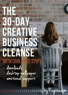 If you're feeling at all disorganized, cluttered, or digitally cramped, it might be time for the 30-day Creative Business Cleanse. For #bloggers, #freelancers, and other creative #biz owners--with checklists, a reminder desktop wallpaper, and more.