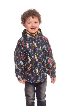 Riley Boys Printed Waterproof Jacket