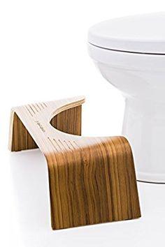 Squatty Potty The Original Bathroom Toilet Stool - Slim Teak Finish, 7 inch Height Toilet Step, Squatty Potty, Regency House, Barn Apartment, Thing 1, Tax Refund, Industrial, Bathroom Toilets, Bathrooms
