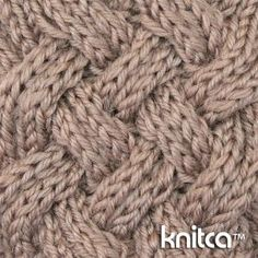 Right side of knitting stitch pattern – Cable 11