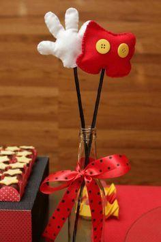 Centro de mesa, adorno para fiestas temáticas de Mickey Mouse