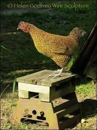 helen godfrey wire sculpture - chicken