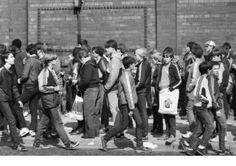 Match day at Anfield in the early 80's